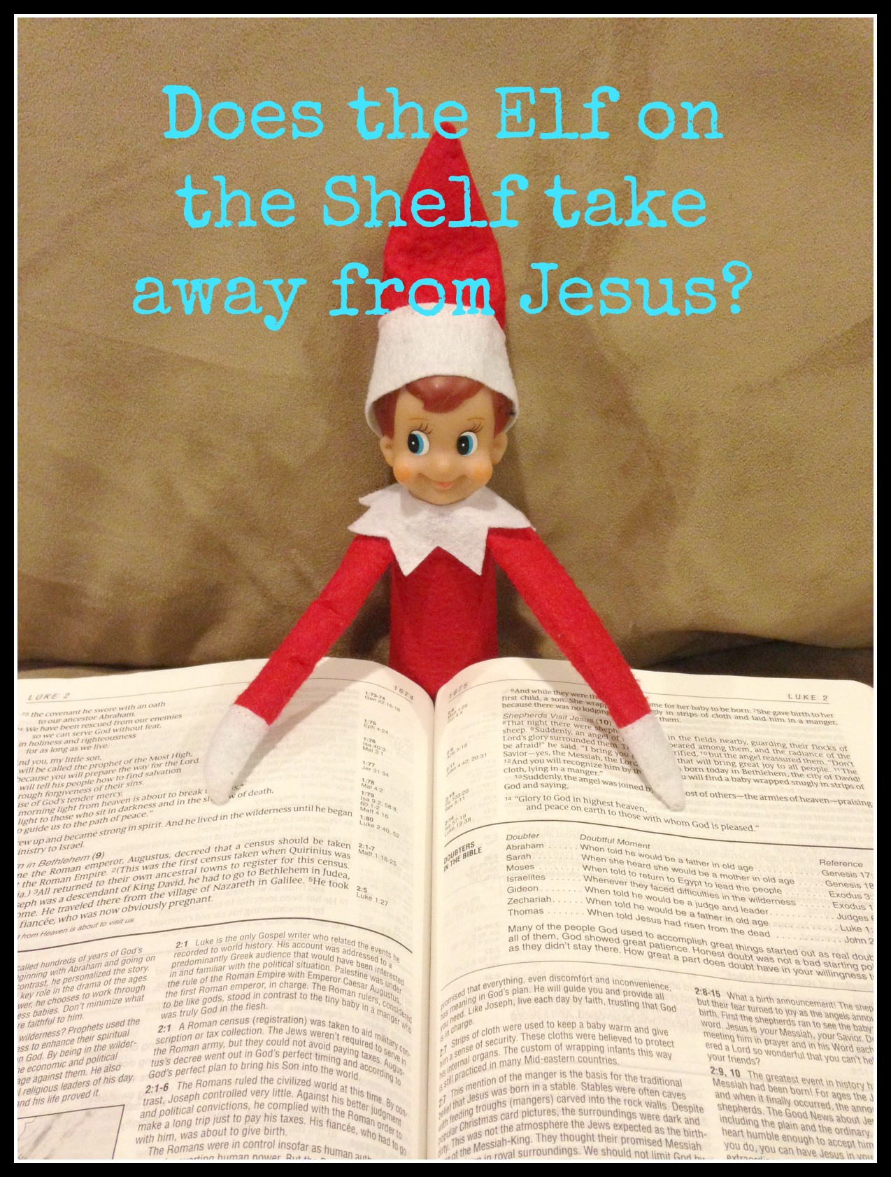 Does the Elf on the Shelf take away from Jesus? - A Little ...