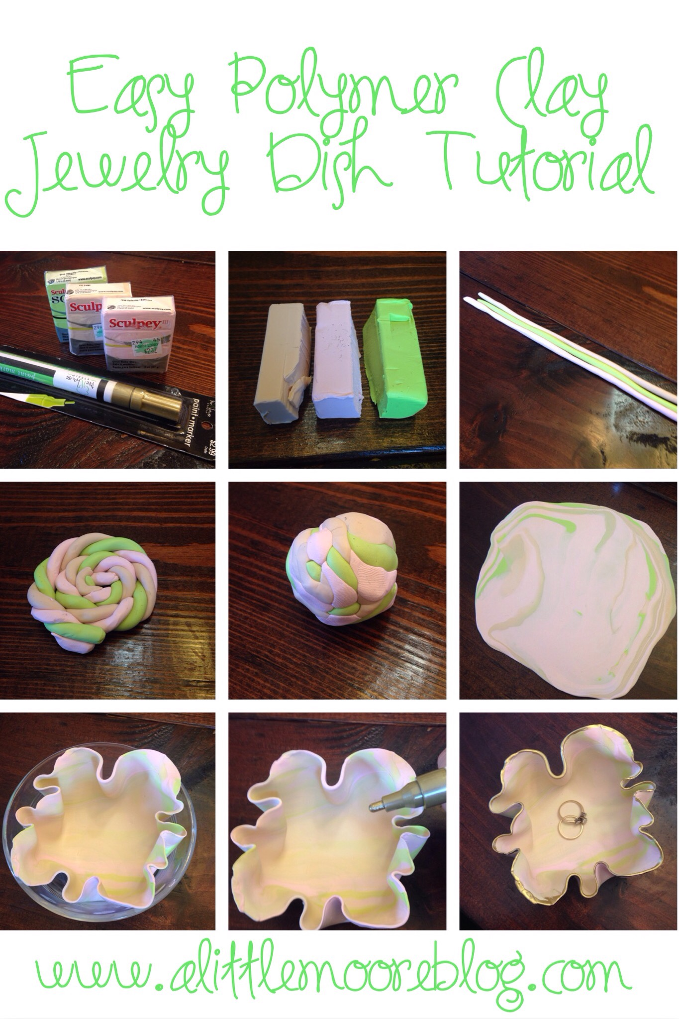 Polymer Clay Jewelry Dish Tutorial A Little Moore