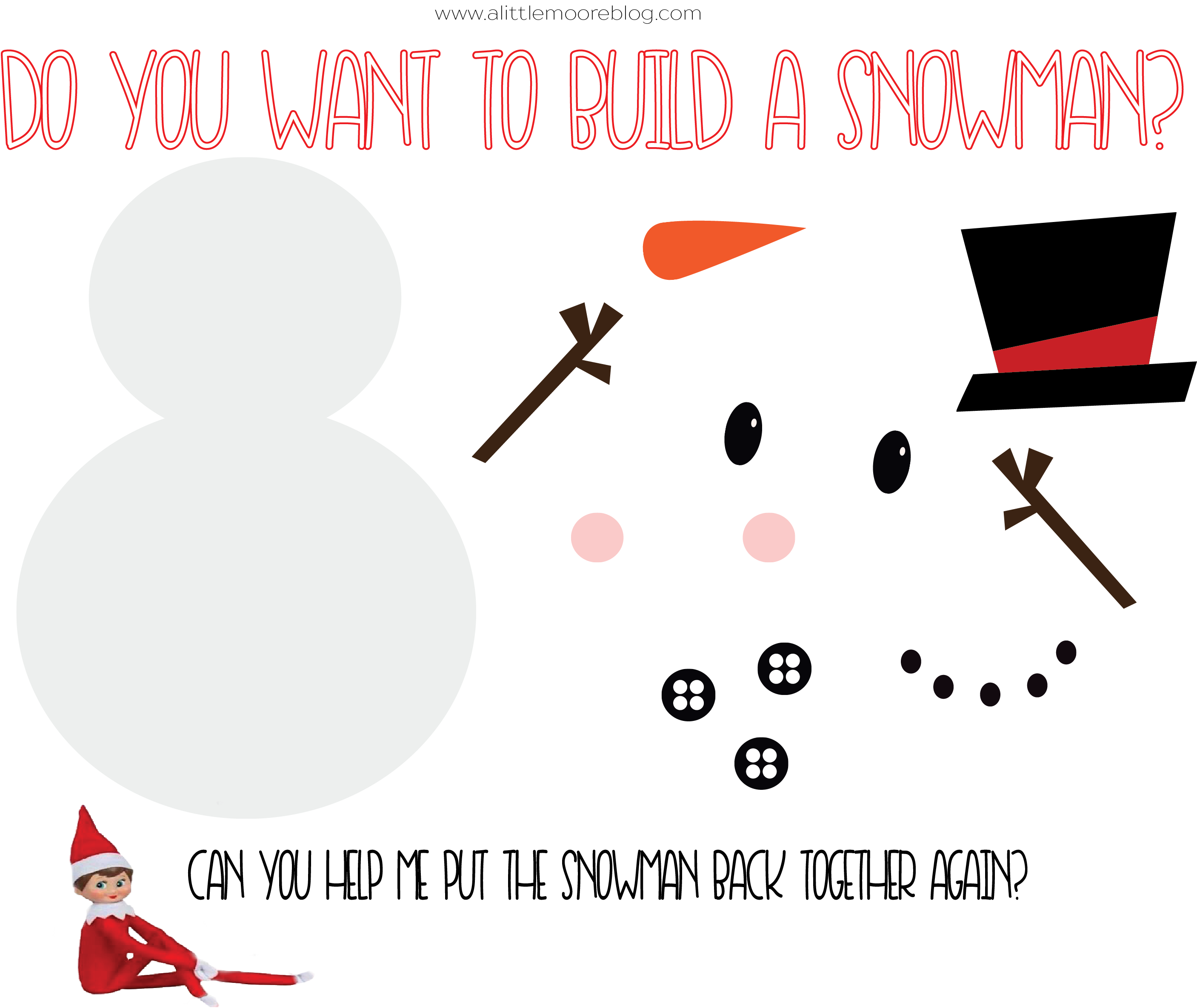 Do you want to build a snowman Elf on the Shelf Activity ...