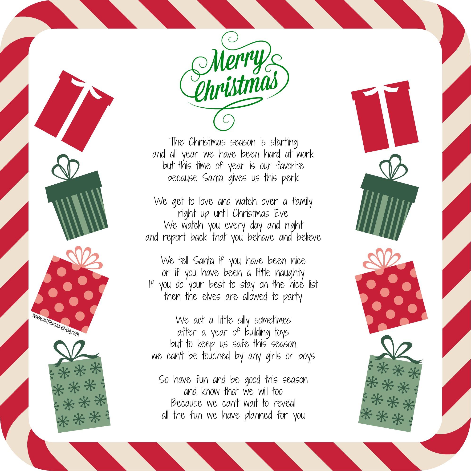 Elf Wel e Letter A Little Moore
